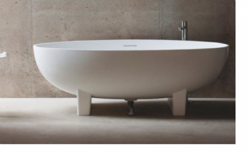 Clearwater Lacrima Bath 1690 x 800mm, Freestanding, Natural Stone, N12